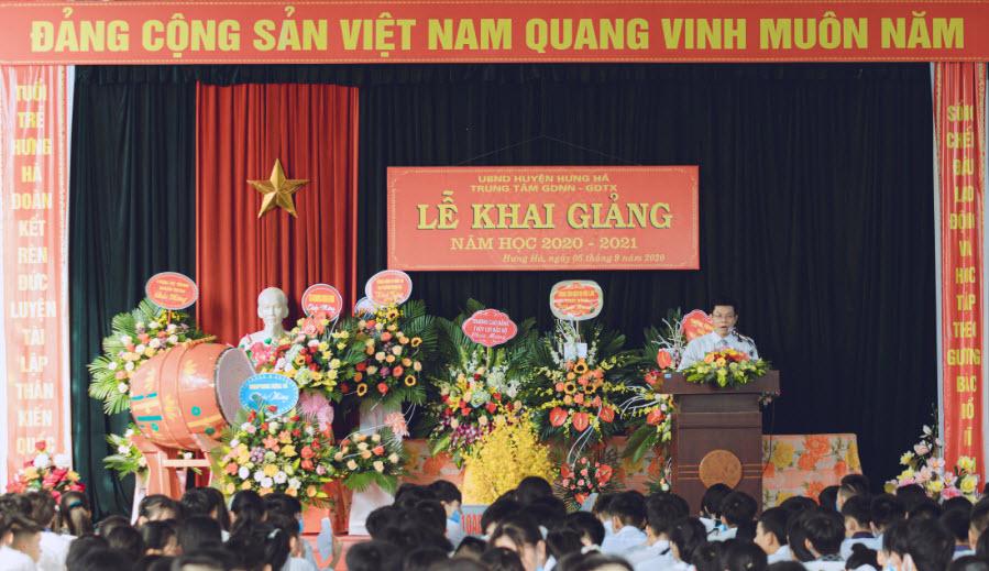 Ths Nguyễn Khánh Toàn Bí thư chi bộ, Giám đốc Trung tâm đọc diễn văn